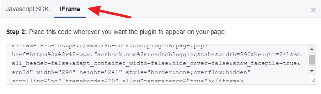 Facebook Like Box Code