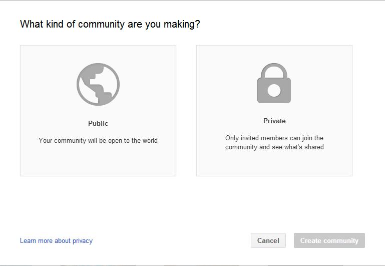 Public or Private Community