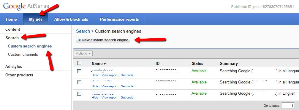 Creating Google Custom Search