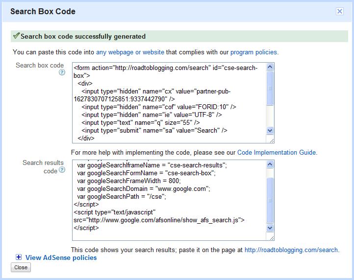 Search Box Code