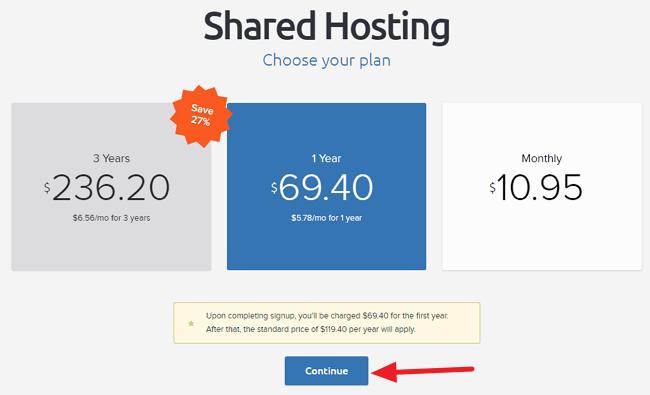 Dreamhost Shared Hosting Plan