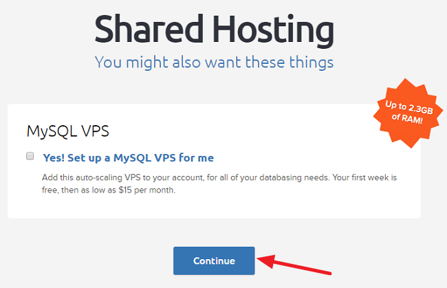 Dreamhost additional options