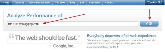 GTmetrix Website Speed Check