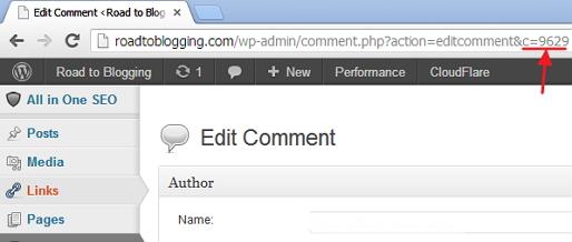 WordPress Comment ID
