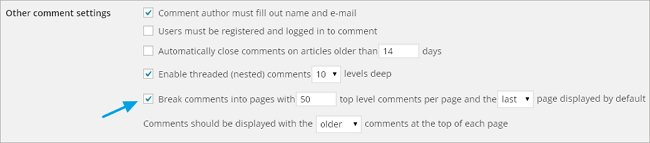 paginating comments wordpress