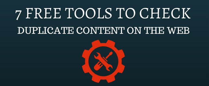 tools to check duplicate content