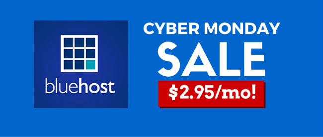 Bluehost Cyber Monday Deal