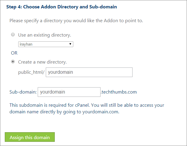 Create New Directory