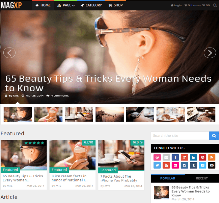 MagXP WordPress Theme