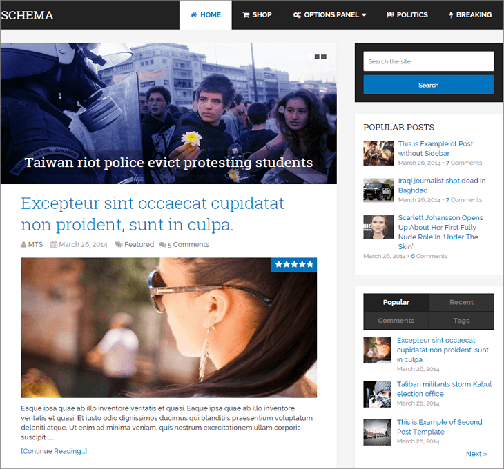 Schema WordPress Theme