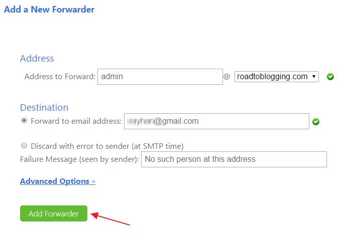 Add a new forwarder