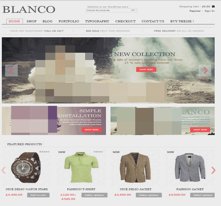 Blanco WordPress Theme