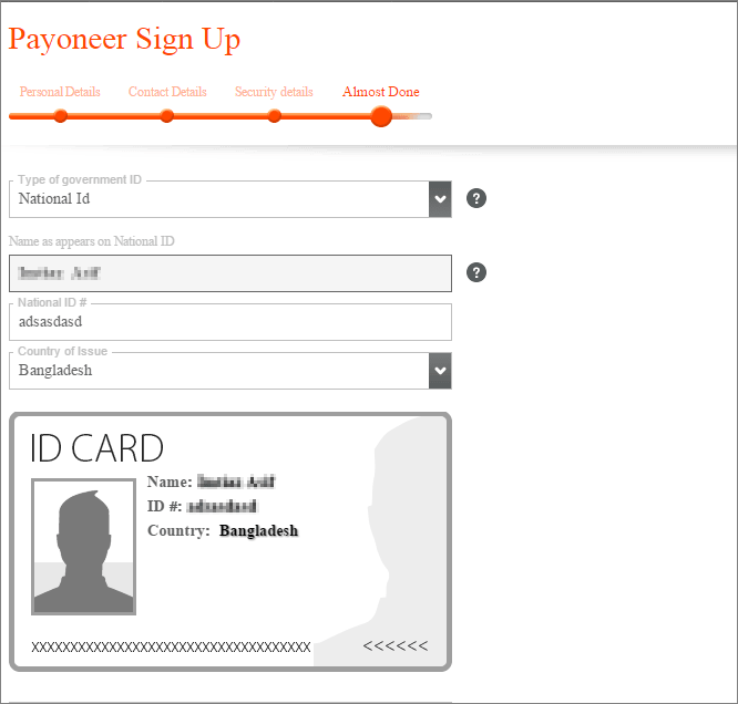 Payoneer Varification