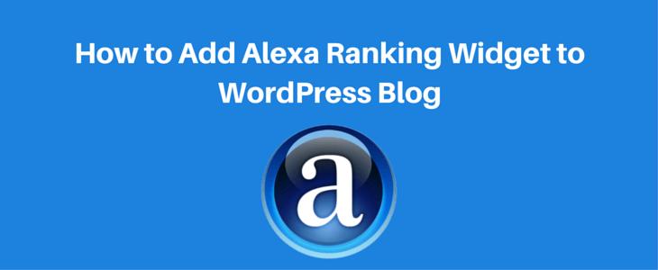 Adding Alexa Ranking Widget to WordPress