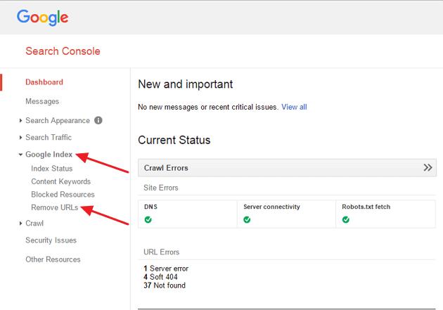 GWT Remove URLs