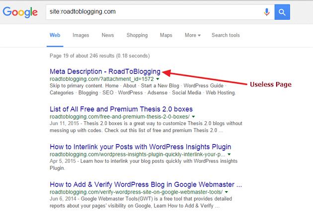 Google Useless Page