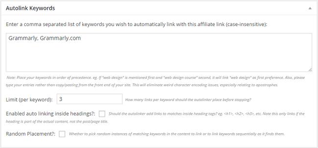 Autolink Keywords