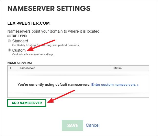 custom nameservers