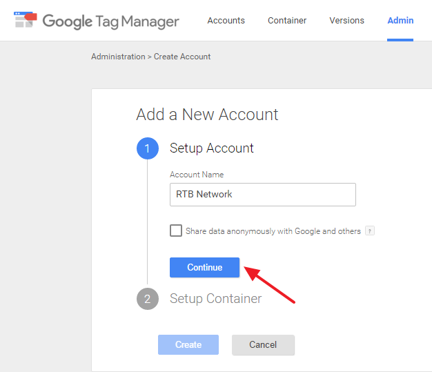 Setting Up Google Tag Manager Account