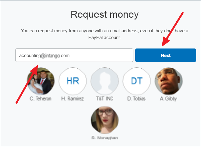 request money on paypal