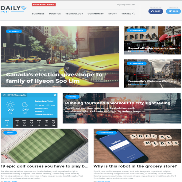 DailyPost by TeslaThemes