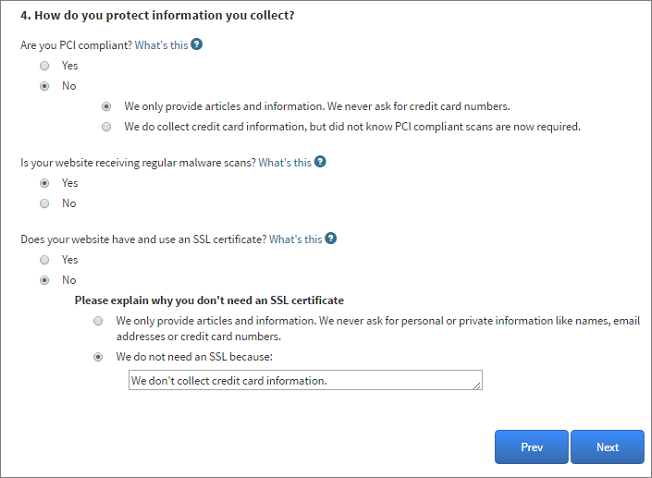 Privacy Policy Questions 3