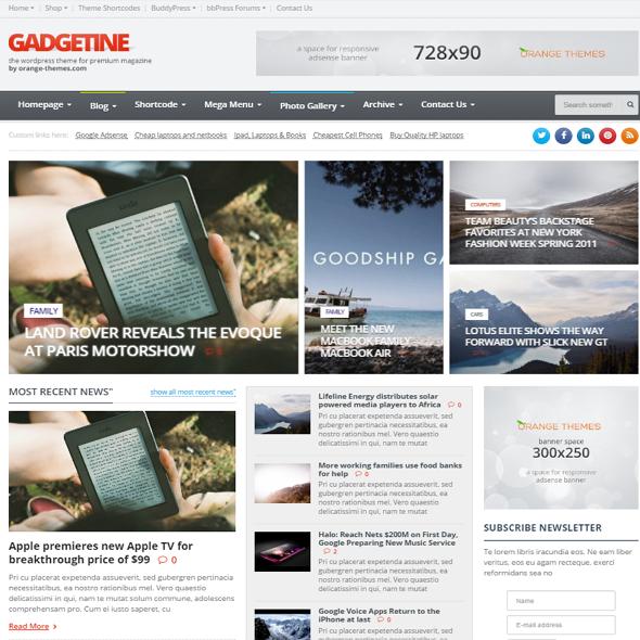 Gadgetine WordPress Theme