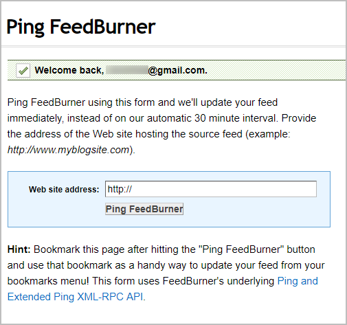 "Top 10 Ping Sites To ""Ping Your Blog"" To Search Engines 5"