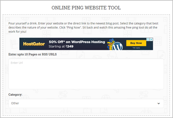 "Top 10 Ping Sites To ""Ping Your Blog"" To Search Engines 3"