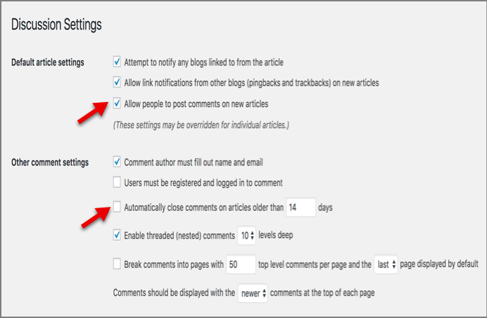 "How to Fix ""Comments are Closed"" Problem in WordPress 2"