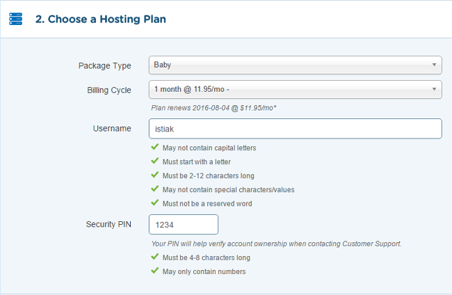 Choosing HostGator Hosting Plan