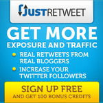 JustRetweet : Get More Twitter Followers, Retweets and Traffic 24