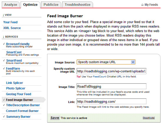 Feed Image Burner