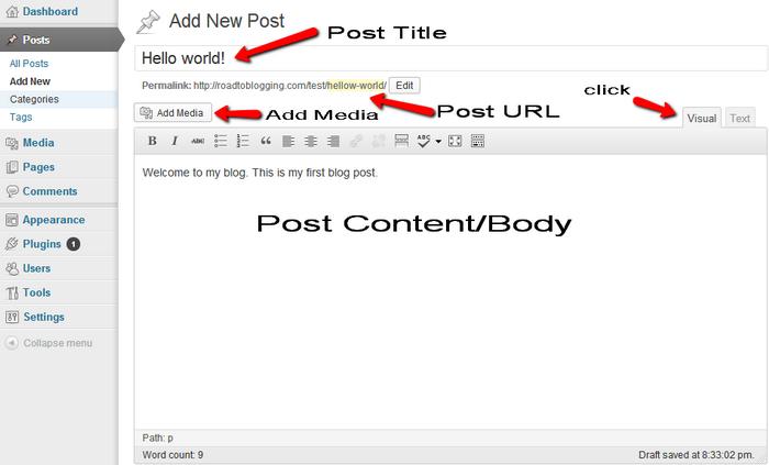 New Post on WordPress
