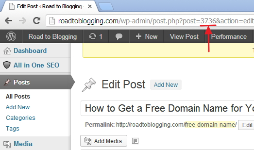WordPress Post and Page ID