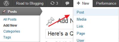 Create a New WordPress Post