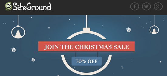 Siteground christmas sale
