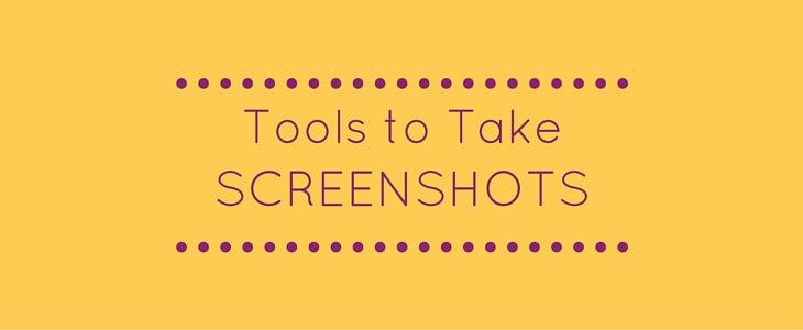 Tools to take screenshots