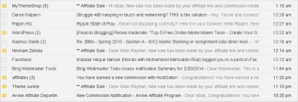 getting affiliate sales