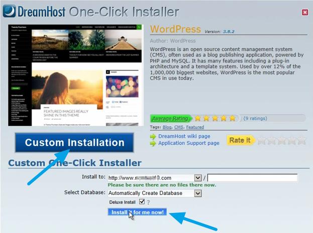 Install WordPress on Dreamhost