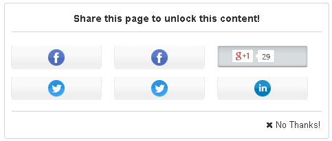 Social Content Locker for WordPress