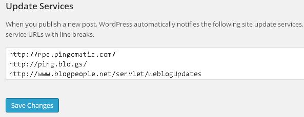 WordPress Ping Service