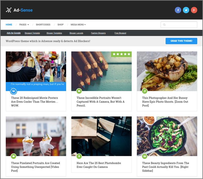 8 Best Google AdSense Ready WordPress Themes For 2019 1
