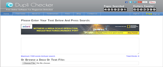 Top 7 Free Duplicate Content Checker Tools On The Web 3