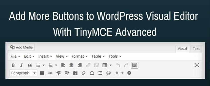 Add more buttons to wordpress visual editor