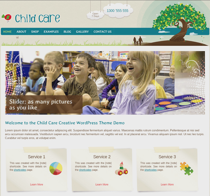Childcare WordPress Theme