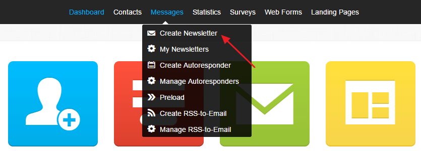 Create Newsletter Getresponse