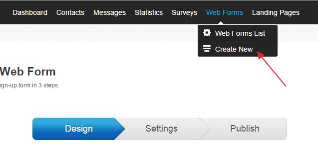 Create web form getresponse