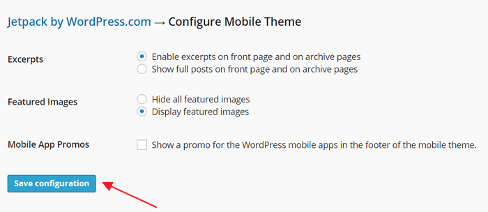 Configure Mobile Theme