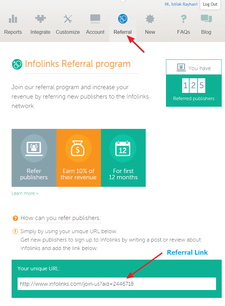 Infolinks Referral Link